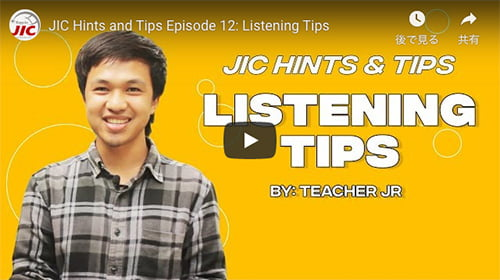 JIC HINTS & TIPS Episode 12